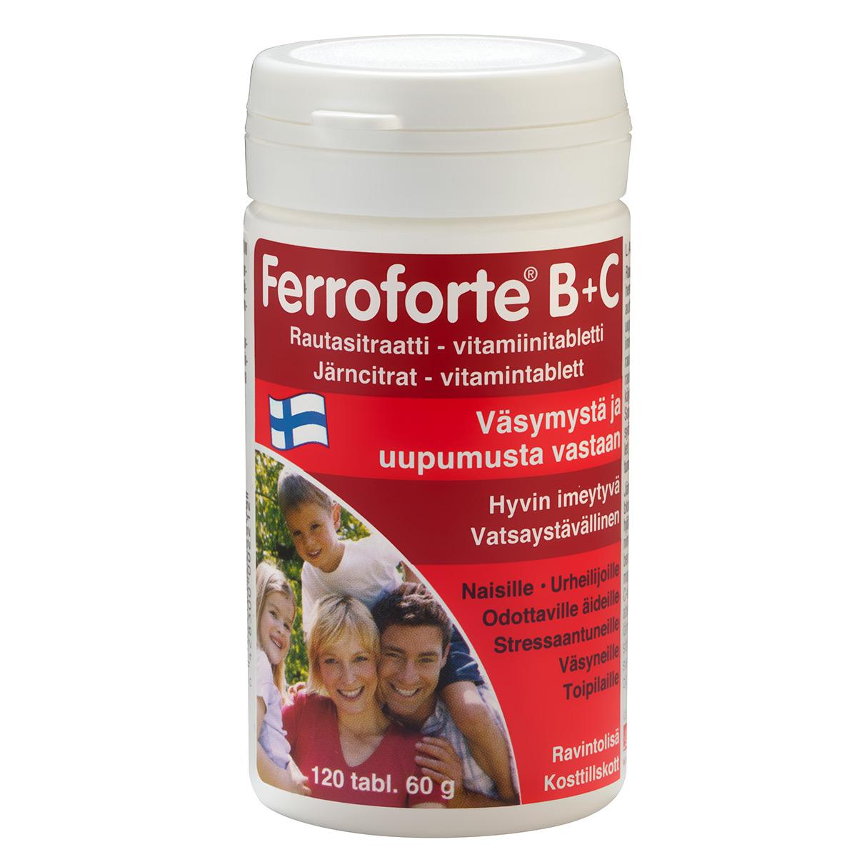 Ferroforte B+C Kokemuksia